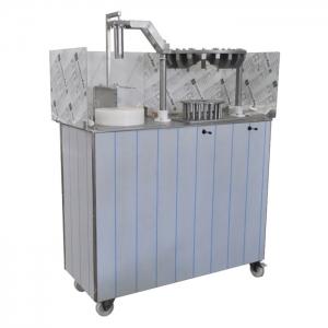 Машина для резки блоков сыра с вырезанием сердцевины